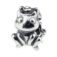 Wholesale Authentic 925 Sterling Silver Charm Frog Prince For European Bracelet