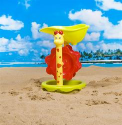New arrival plastic toys sand beach windmill toys with sand castle buckets