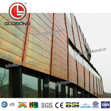 GLOBOND Metal Finish Decorative Wall Boards Aluminum Wall Cladding Price