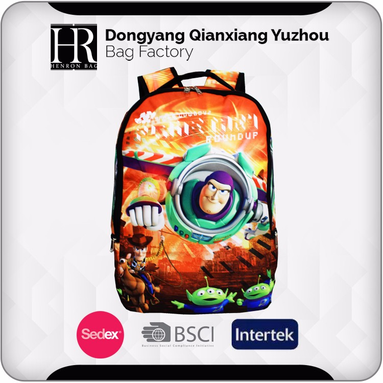 Full Print Back Custom Made Sports Backpack, Kids Backpacks