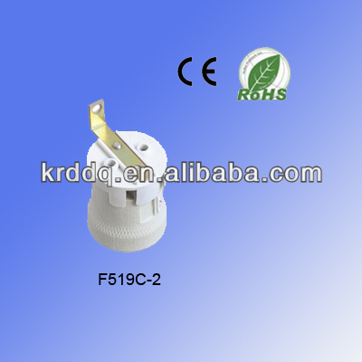 bracketed porcelain e27 lamp holder