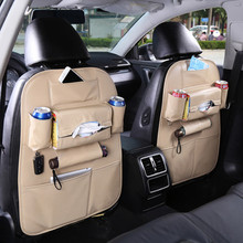 High quality Leather Car kick mat useful seat back organizers