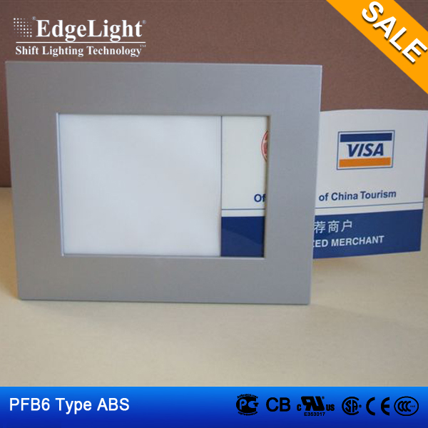 Edgelight PF1 lighted acrylic signs , single sided photo frame , table standing cheap price design frame LED display