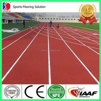 IAAF approved synthetic rubber running track materials