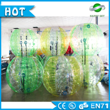 Green or yellow PVC human inflatable bumper bubble ball,body bubble bumper ball,inflatable belly bump ball