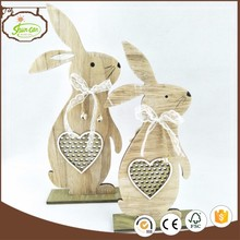 china import items decor for home laser cut wooden rabbit craft