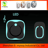 LED light electric door bell,two bell wireless door chime : door chimes,door calling bell
