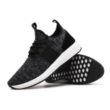 2019 New styles soft outsole breathable knit sneakers men sport shoes