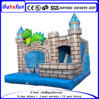 Hot sale indoor inflatable dinosaur bouncer, 0.55mm PVC inflatable bouncy castle for kids