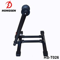 Steel Bike Tire Holder L Shape Foldable Bicycle Repair Stand Parking Portable Rack For Home Use