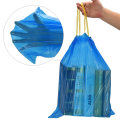 2.6 Gallon Drawstring Small Garbage Bags, Blue, 110 Counts