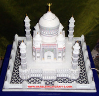 Marble White Taj Mahal Model, Decorative Handmade Taj Mahal Symbol Of Love