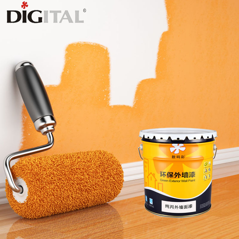 Washing resistant and stain resistant pure acrylic emulsion paint for exterior wall