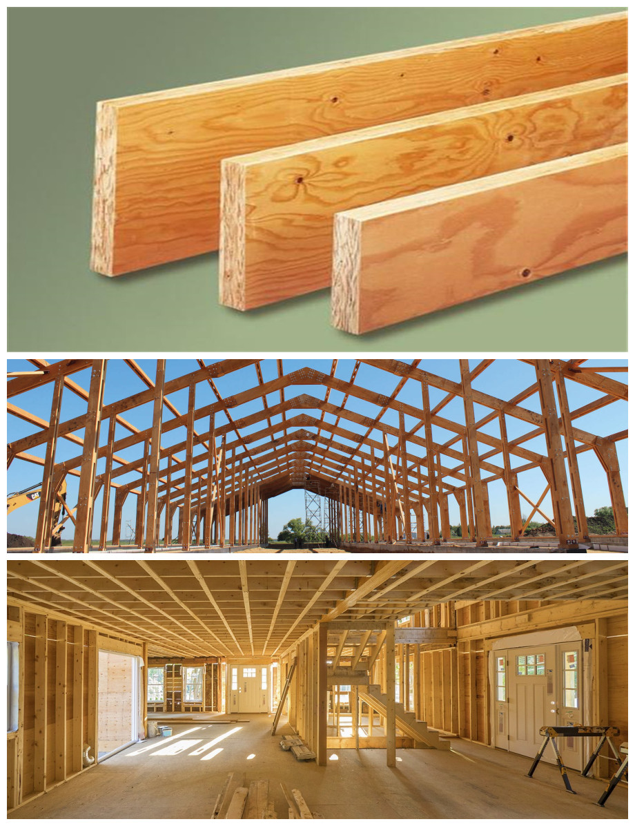 lowes timber beams lvl plywood door frame