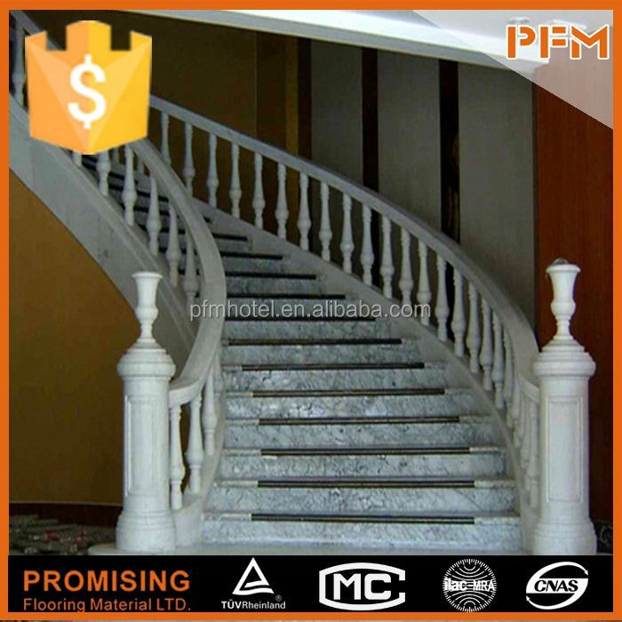polished indoor climbing prefab granite stairs