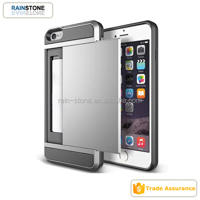 Cheap Price Card Storage Case for iPhone 4 4S, Slide Card Case for Apple iPhone 4 S
