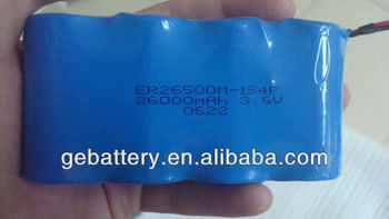 C ER26500 3.6V 26000mah high capacity battery pack