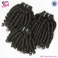 DJH new texture magical curly weave remy human hair bundles with closure