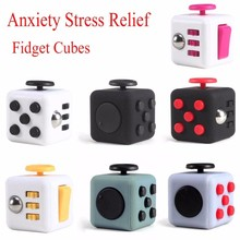 New Item Anxiety Stress Adult Toys 6Side Fidget Cube