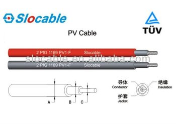 TUV approved solar pv connector cable 6mm2