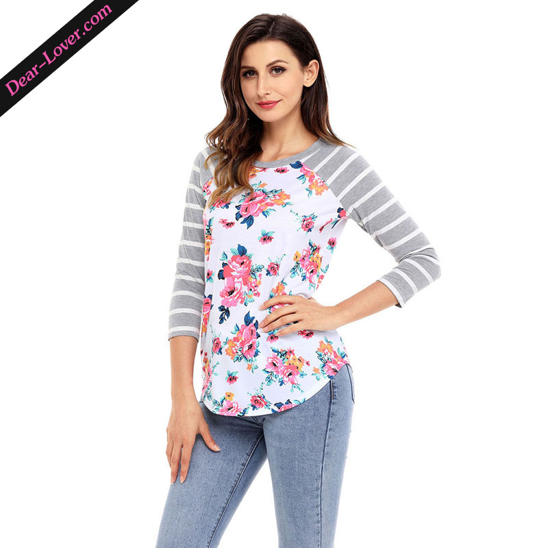 Fashion latest blouse design Women's casual floral top