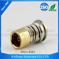 BMA female connector for semi-rigid cable