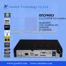Android 4.2 smart tv box/ smart ott satellite receiver android dvb-s2 with biss and cccam