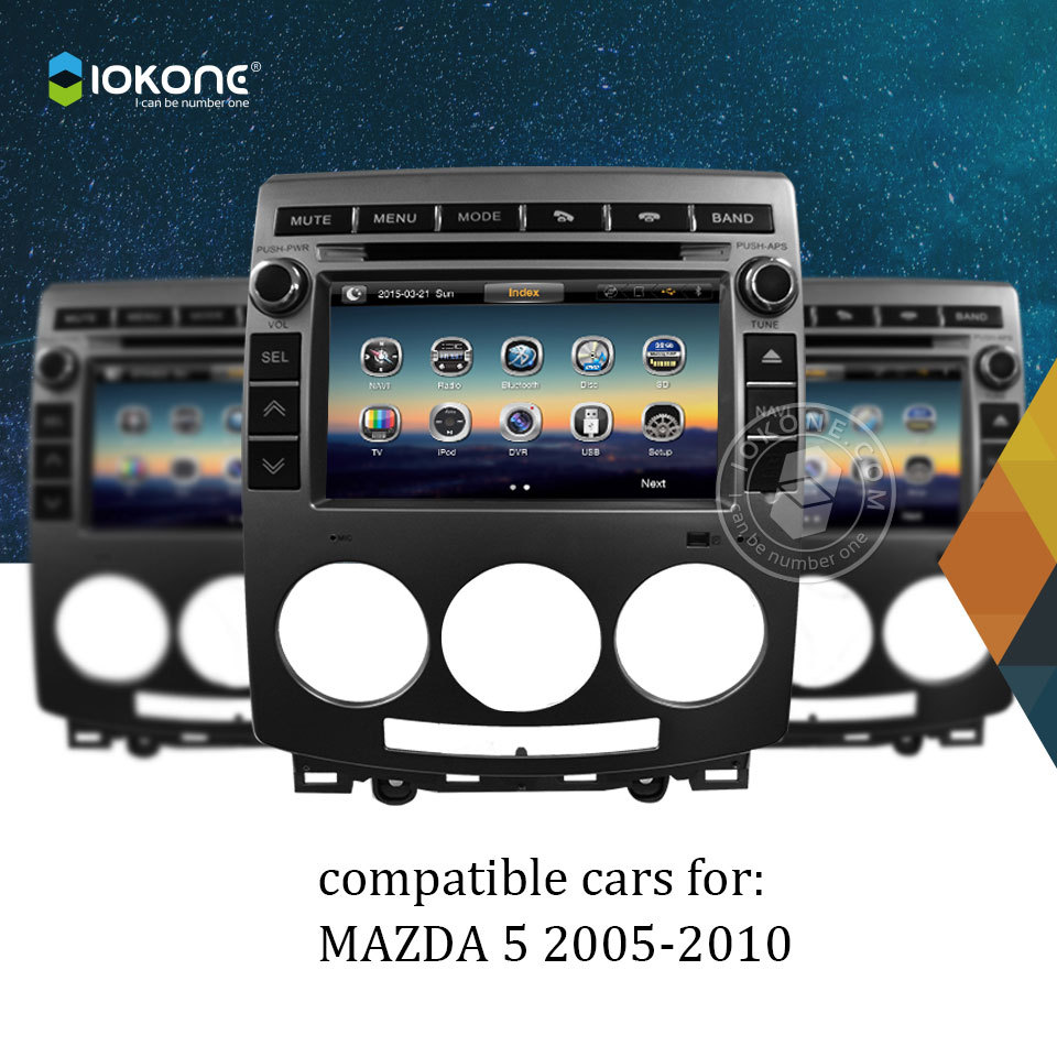 Iokone 2 Din Car DVD Player For MAZDA 5 2005-2010 With Ipod Bluetooth