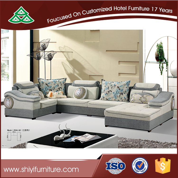 Modern design u shape sectional sofa set for living room