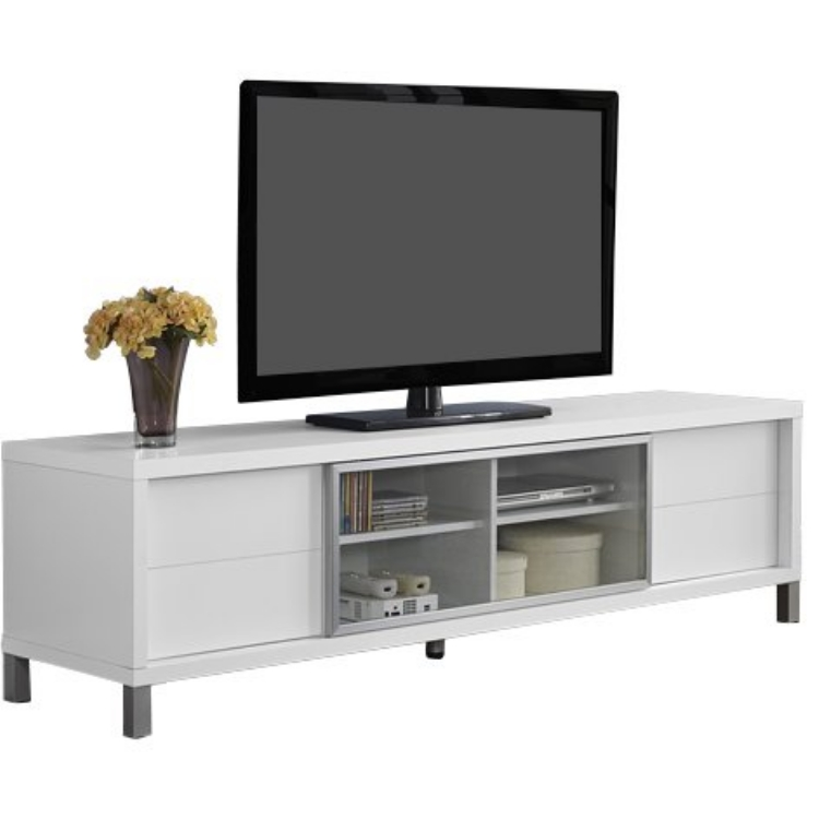 shengfang high gloss mdf top metal legs tv stand tv table with four drawers