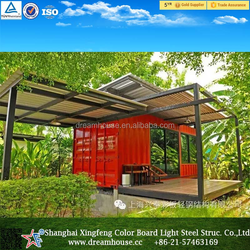 Long life used prefab modular homes container coffee shop for Smart house container