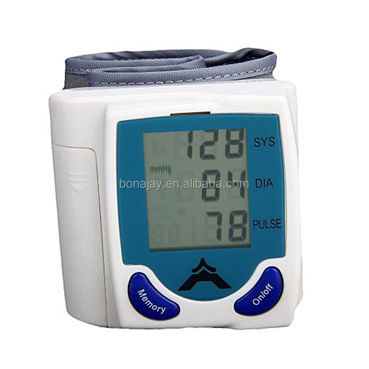 Digital smart wristband blood pressure monitor