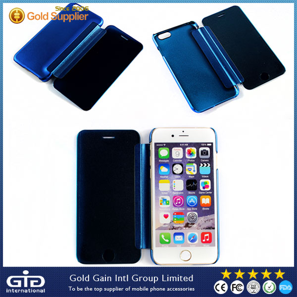 [GGIT] Nuevos Productos Celulares Plating Case For iPhone 6 Flip Cover