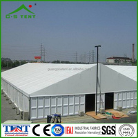 F prefabricated warehouse tent building for fabric storage shed