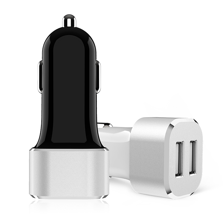 factory directly supply dual port car charger 24W CE FCC ROHS certified