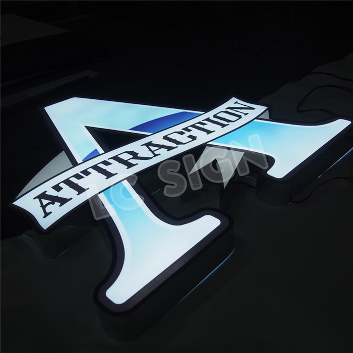 New product 2016 acrylic advertising letter logo of China National Standard