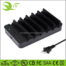 60W multi charger station 6 port usb desktop rapid charger for tablets laptop cellphone and camera