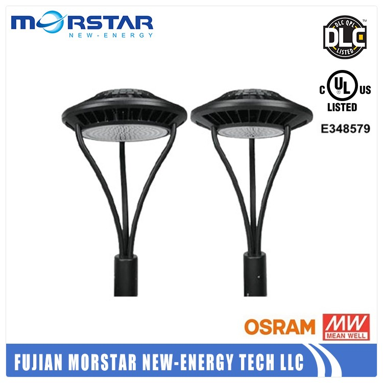dlc approved led post top garden light, led circualr area light