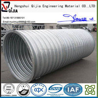 galvanized steel oil and gas pipe steel tunnel liner plates manufacture flexible corrugated steel conduit pipes