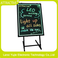 Sign Board Can Use Power Bank Led Writing Board 5050 RGB Led Drawing Menu Board
