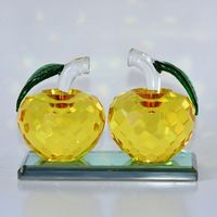 custom clear couple crystal apple for wedding favor