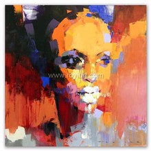 Modern beautiful lady figure art african women portrait oil painting on canvas