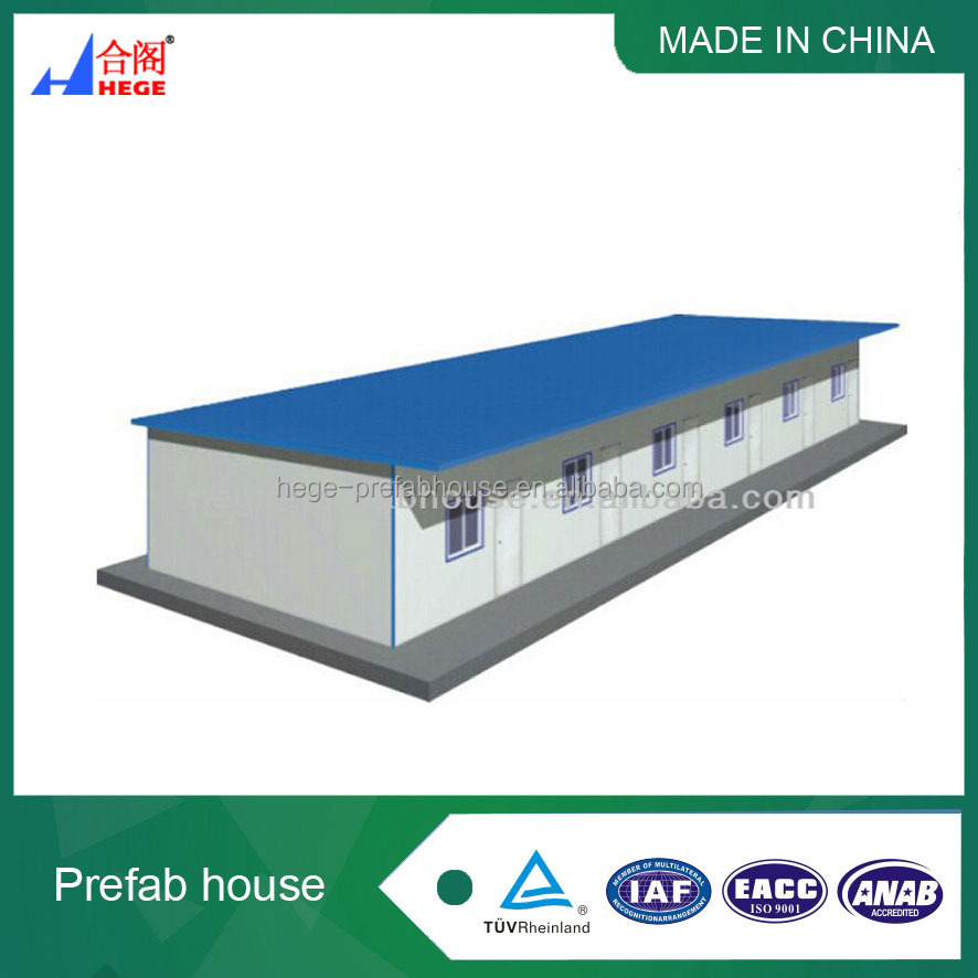 Flat roof prefabricated house design