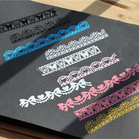Lace decoration window stickers and lace border tape