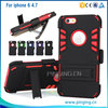 New Design iVi Hybrid Combo Holster Case With Belt Clip With Kickstand For iPhone 6 4.7