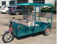 Three Wheels Electric Tricycle / 2015 New Model Battery Rickshaw / 5 Seats Electric Rickshaw