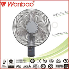 CB CE Approved Plastic Blade 3 Speed Choosable 16 inch Wall Mounted Oscillating Fan with light