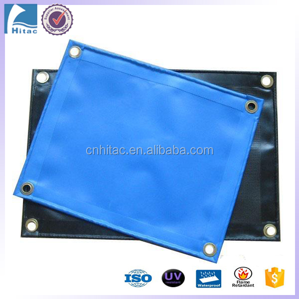1100denier fire retardant polyester pvc vinyl coated tarpaulin fabric