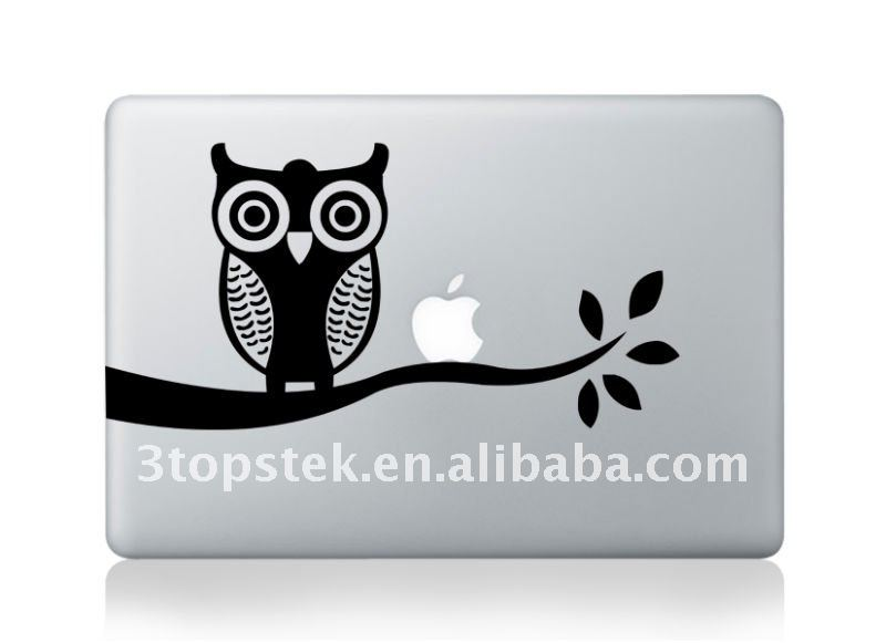 Night Owl ontree die cut sticker for Macbook Decal Skin Stickers Mac Cover Decal for Apple Macbook pro 15 retina