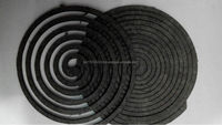 hot sell 145mm black Unbreakale plant fiber mosquito coil herbal mosquito coil mosquito killer